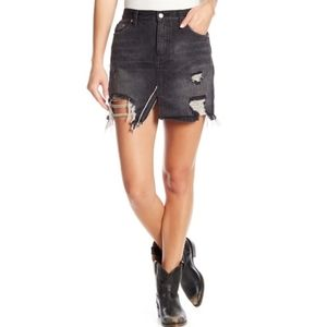 "FREE PEOPLE ""WE THE FREE""  Frayed Denim"